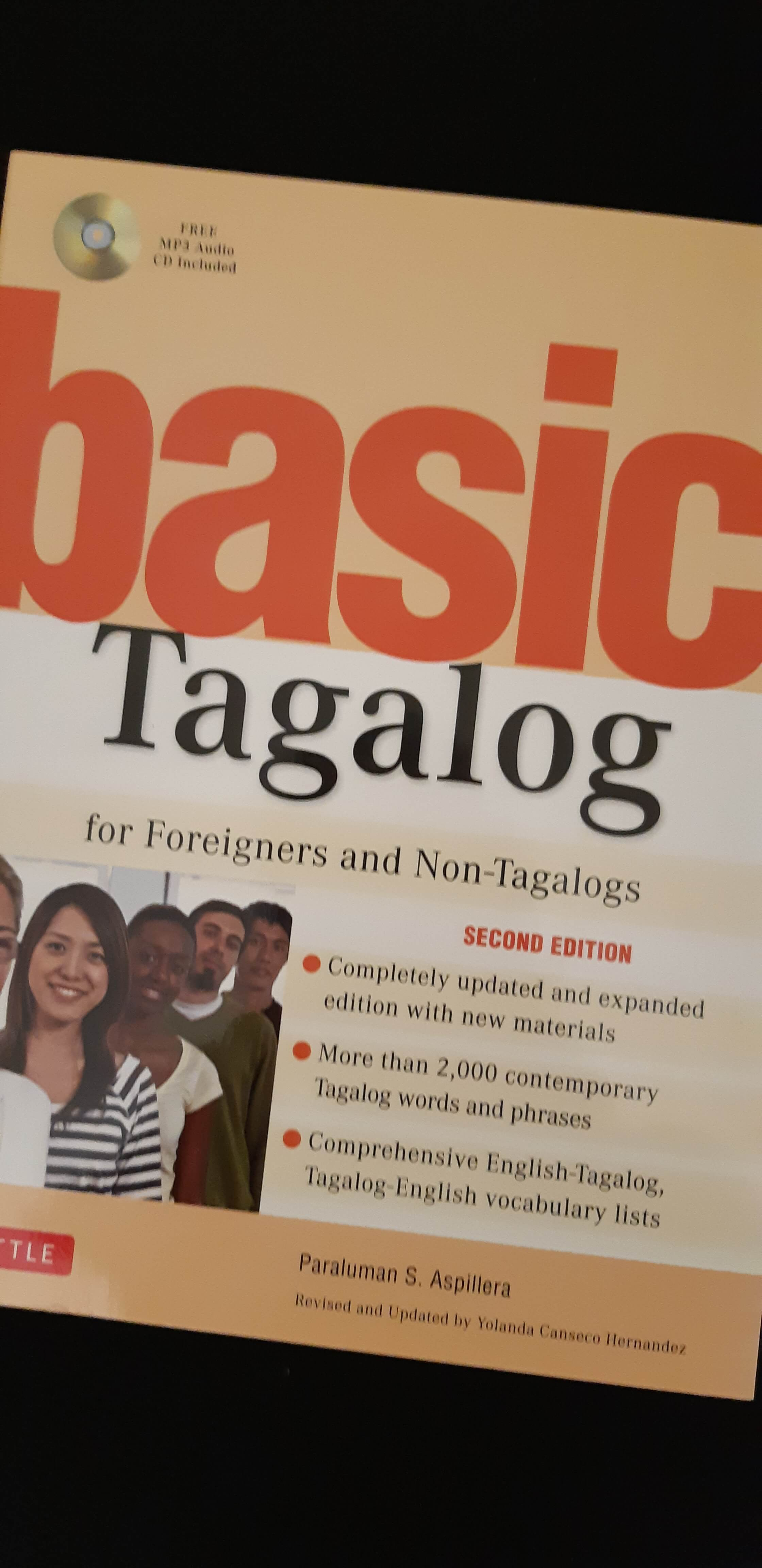 Jacket cover of a Tagalog workbook.
