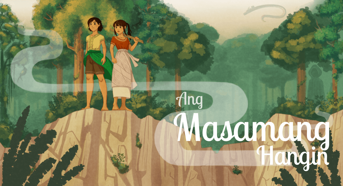 Fully rendered version with Ang Masamang Hangin in a script font.