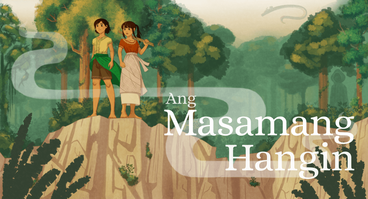 Fully rendered version with Ang Masamang Hangin in a serif font.
